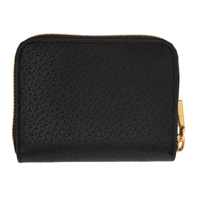 Versace Black Pecari Zip Wallet