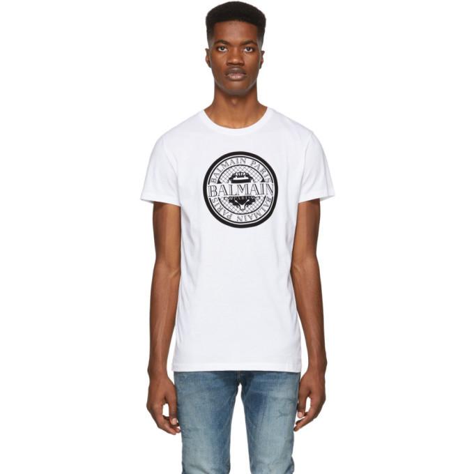 Photo: Balmain White Coin Logo T-Shirt