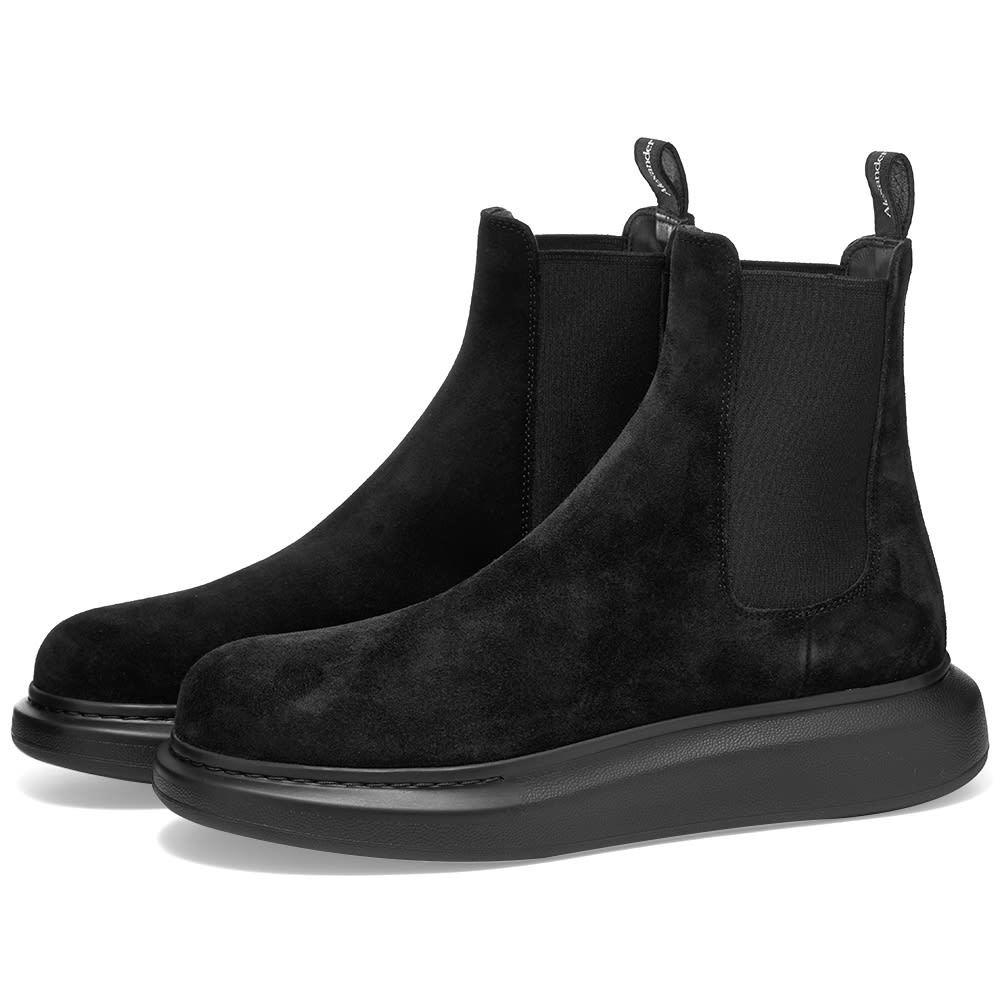 Photo: Alexander McQueen Suede Chelsea Wedge Sole Boot