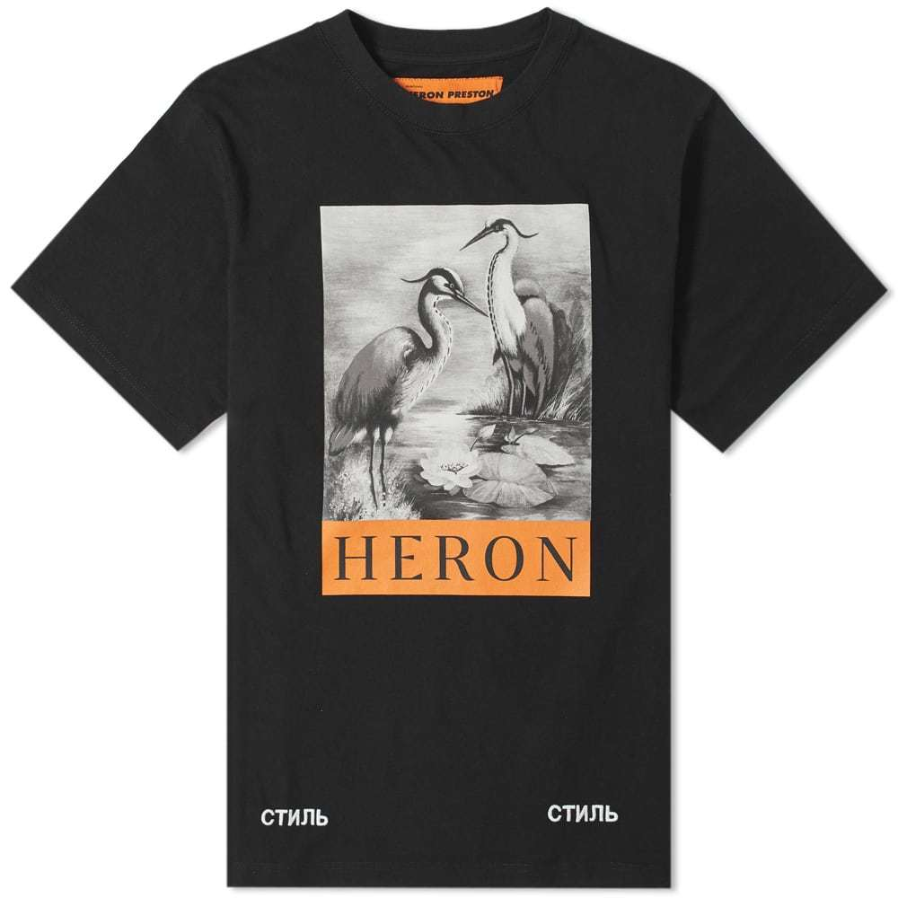 Photo: Heron Preston Black & White Herons Tee