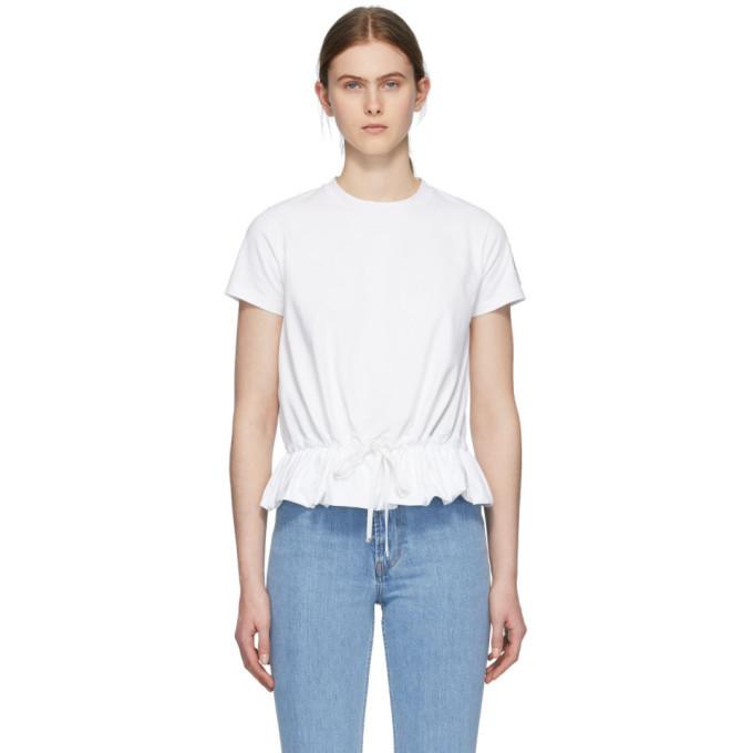 Photo: Moncler White Ruffle T-Shirt