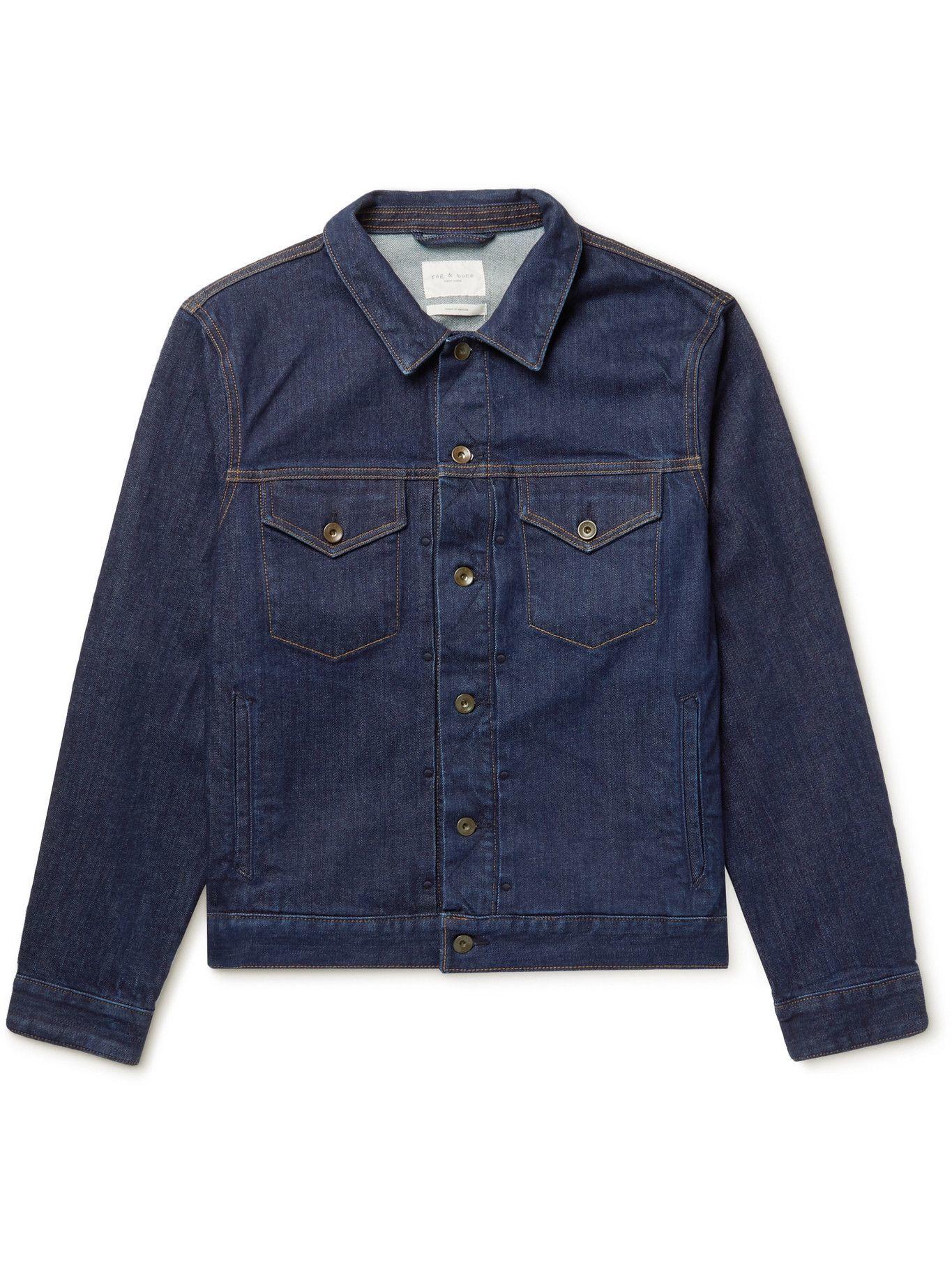 Photo: RAG & BONE - Definitive Rinsed-Denim Jacket - Blue