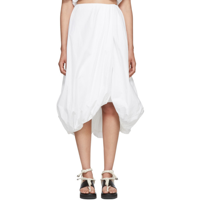 3.1 Phillip Lim White Draped Bubble Skirt