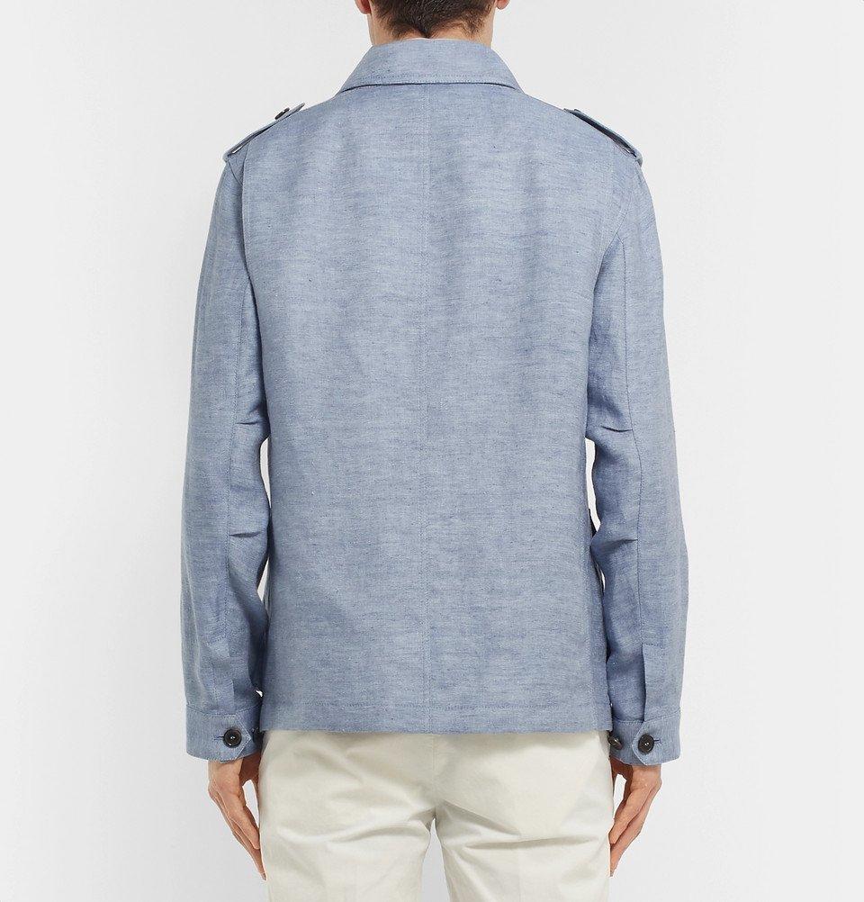 Tod's - Mélange Linen Overshirt - Light blue