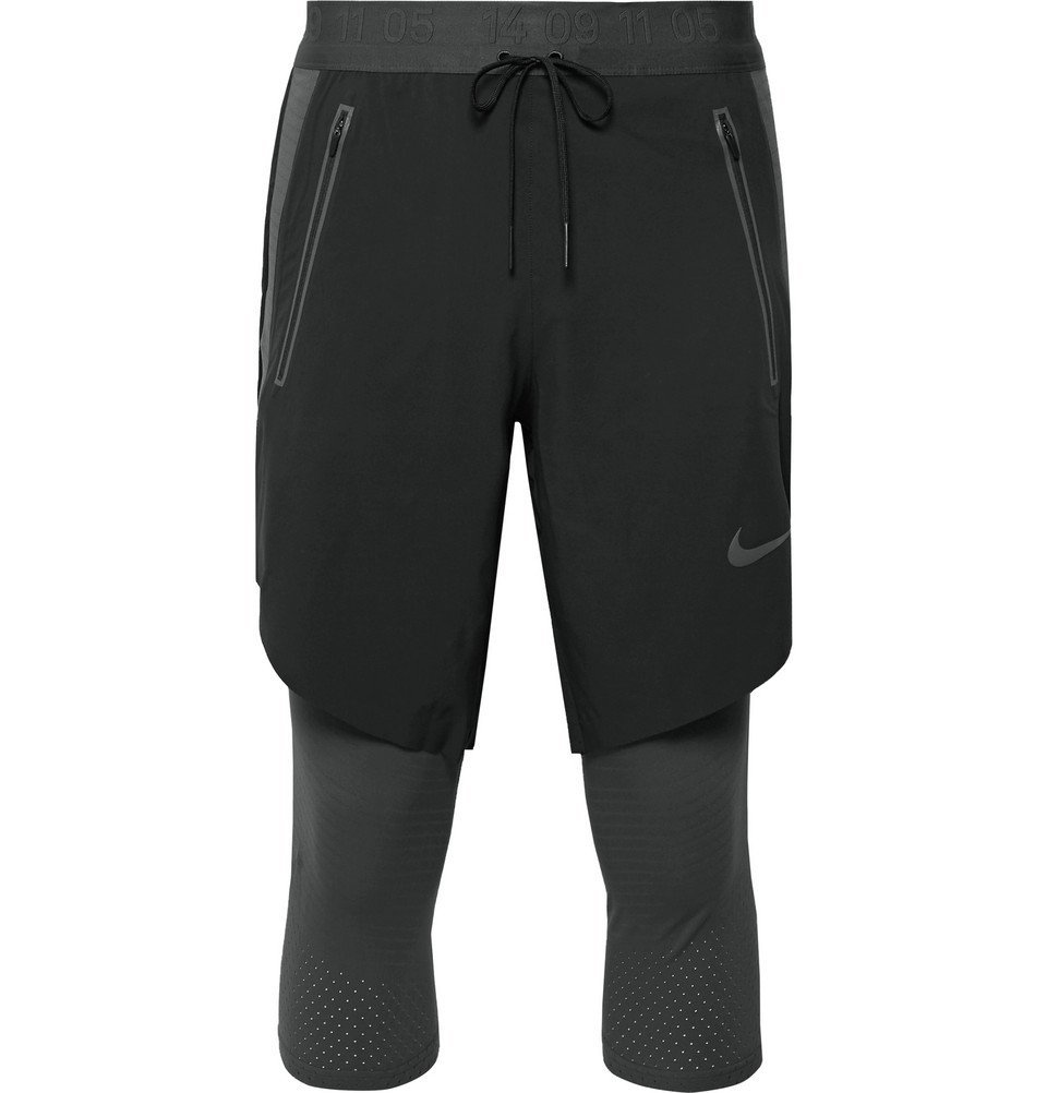 Nike Running - Tech Pack 2-In-1 Layered Dri-FIT Tights - Black