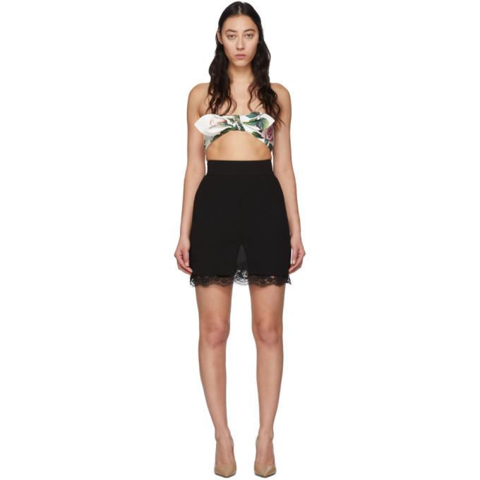 Photo: Dolce and Gabbana Black Double Woolen Cloth Miniskirt