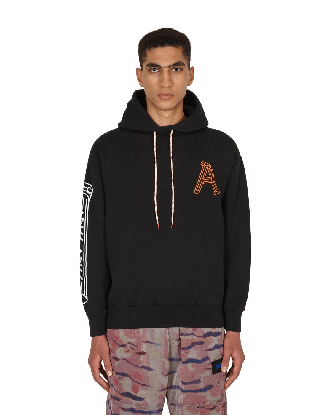 Photo: Aries Greek Column Hooded Sweatshirt Black