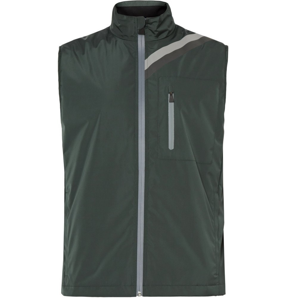 Photo: Aztech Mountain - Cathedral Padded Water-Repellent Shell Gilet - Dark green