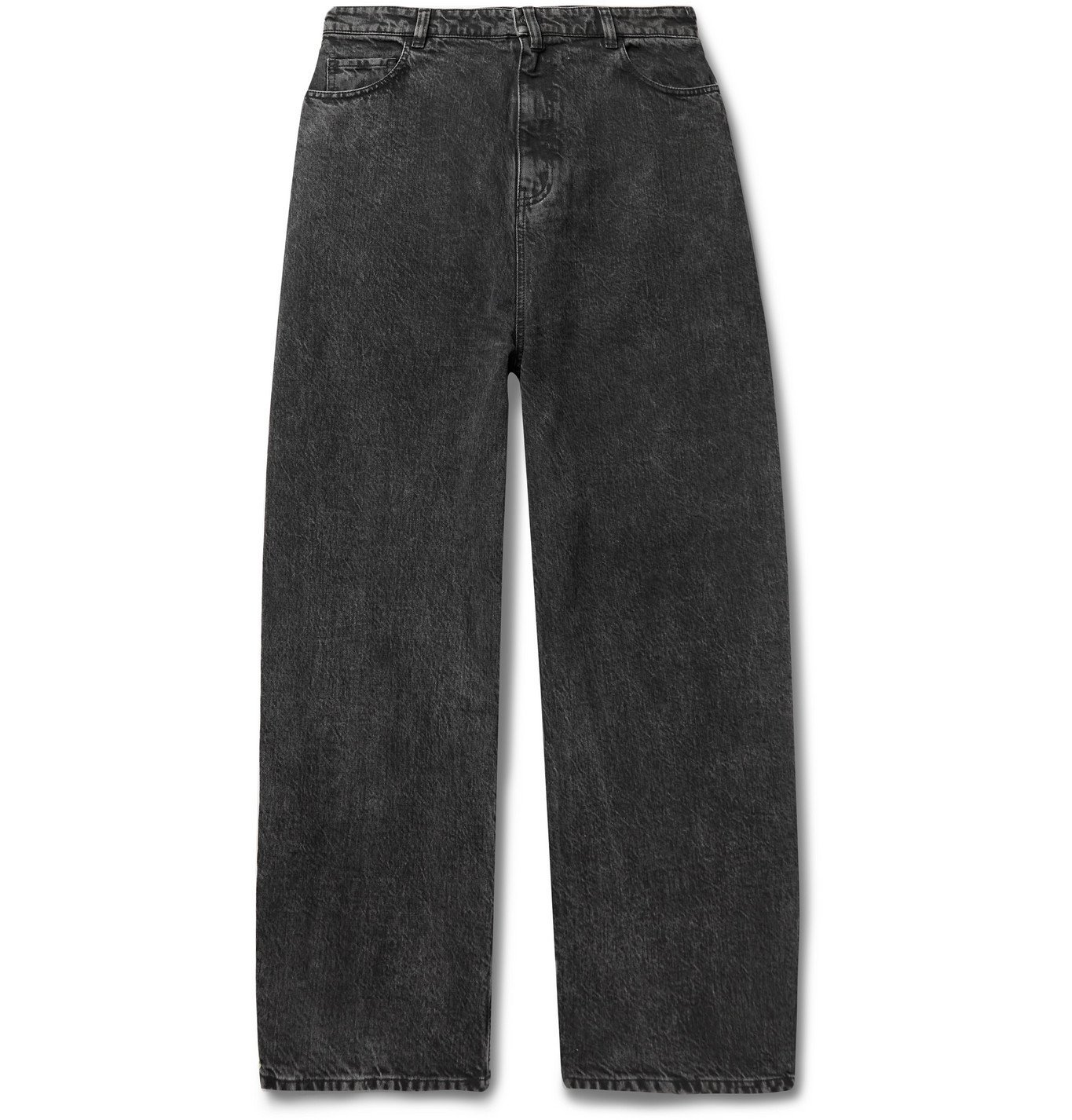 Photo: BALENCIAGA - Wide-Leg Denim Jeans - Gray