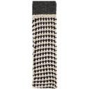 Raf Simons Black and Off-White Wool Striped Long Slim Scarf