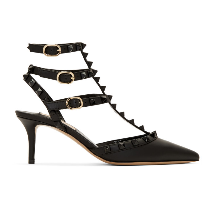 Photo: Valentino Black Valentino Garavani Rockstud Heels