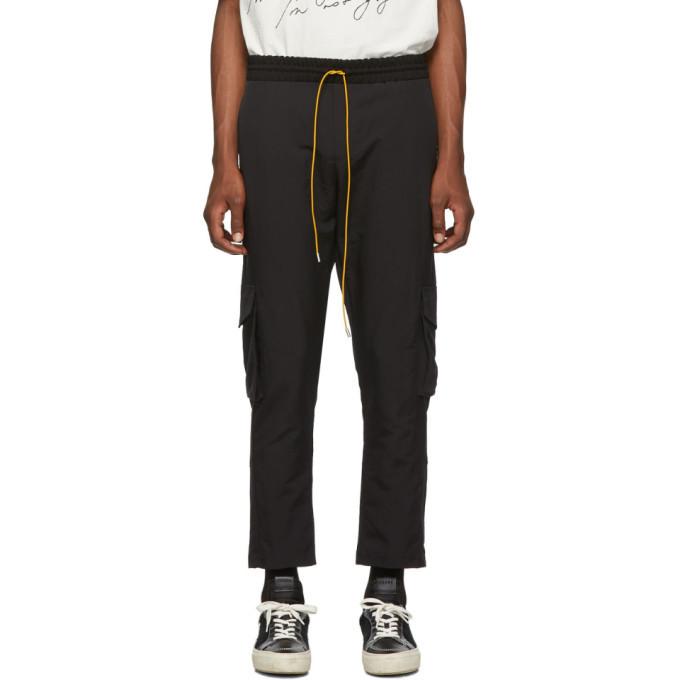 Photo: Rhude SSENSE Exclusive Black Soho House Edition Cargo Pants