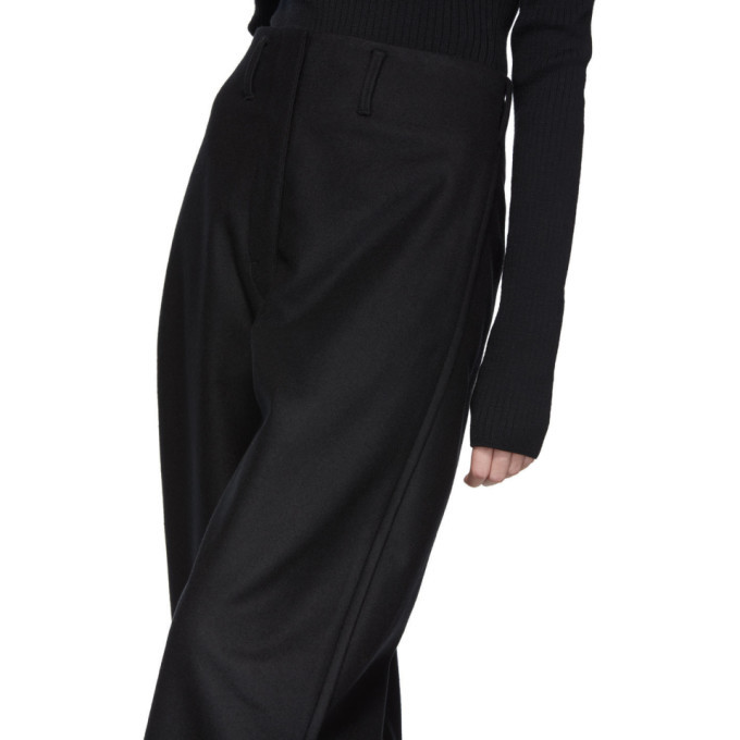 Lemaire Black Cropped Chino Trousers