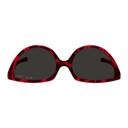 Martine Rose Black and Red Mykita Edition Giraffe SOS Sunglasses