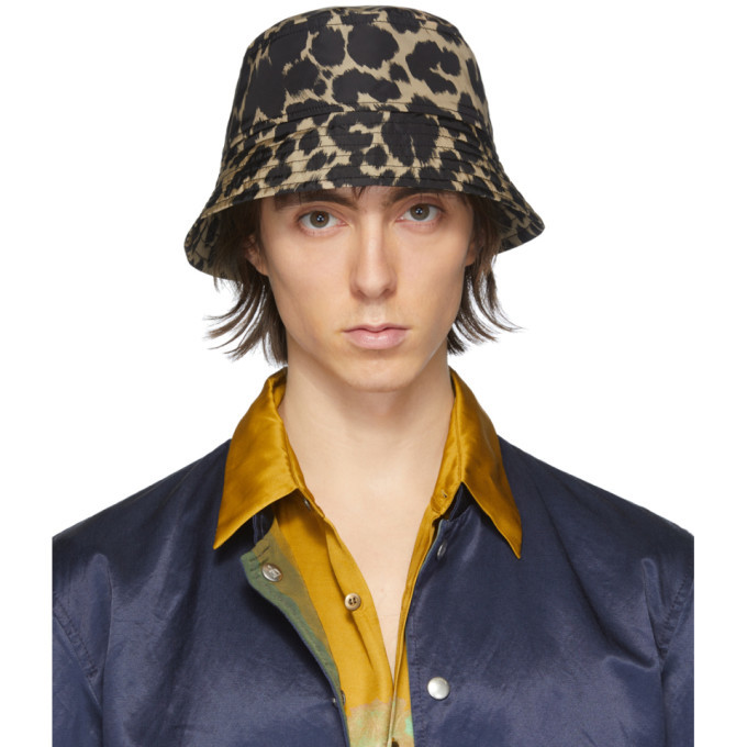 Photo: Dries Van Noten Black and Beige Leopard Gillian Bucket Hat