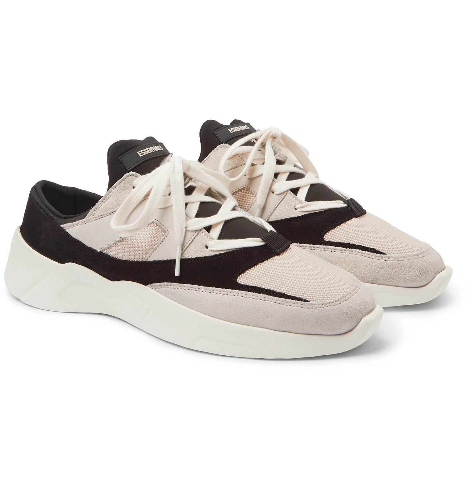 Photo: Fear Of God Essentials - Mesh, Suede and Leather Backless Sneakers - Neutrals