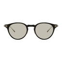 Oliver Peoples Black and Gunmetal Eldon Sunglasses