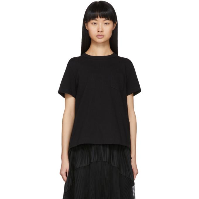 Sacai Black Open Back T-Shirt
