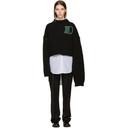 Raf Simons Black University Badge Sweater