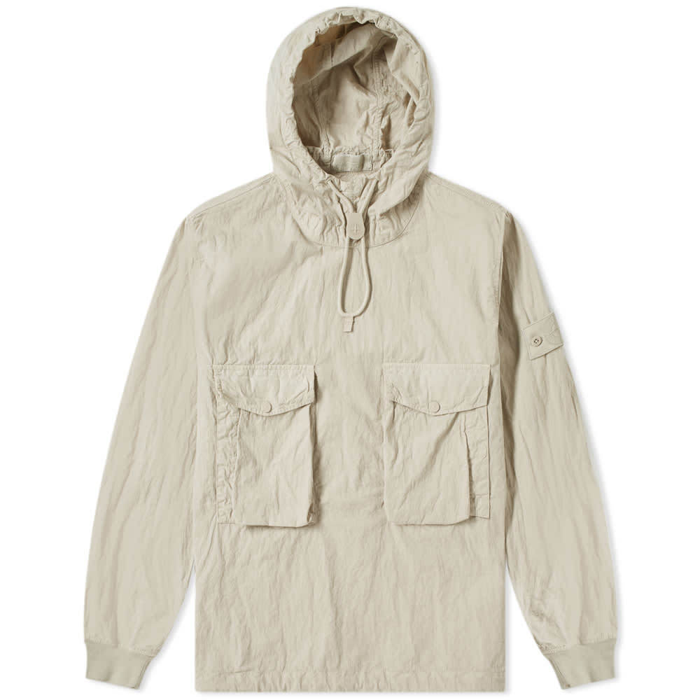 Photo: Stone Island Ghost Resin Cotton Popover Hooded Smock