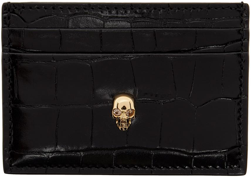 Photo: Alexander McQueen Black Croc Skull Card Holder
