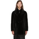 Max Mara Black Shearling Murano Coat