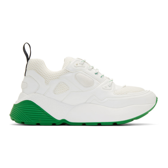 Photo: Stella McCartney White and Green Eclypse Sneakers
