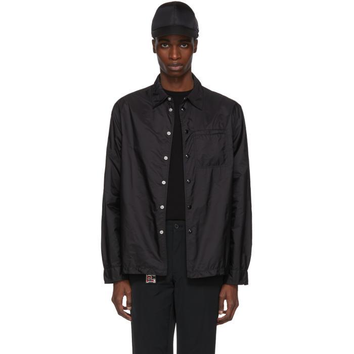 Photo: Prada Black Nylon Button-Down Jacket