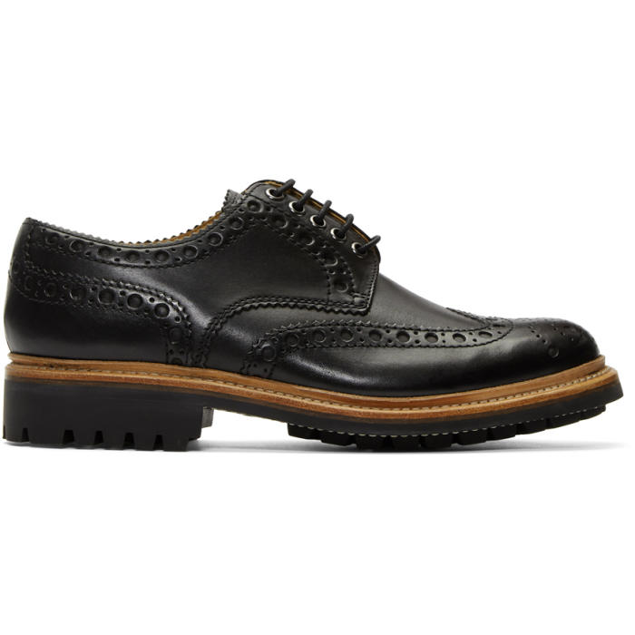 Photo: Grenson Black Archie Brogues
