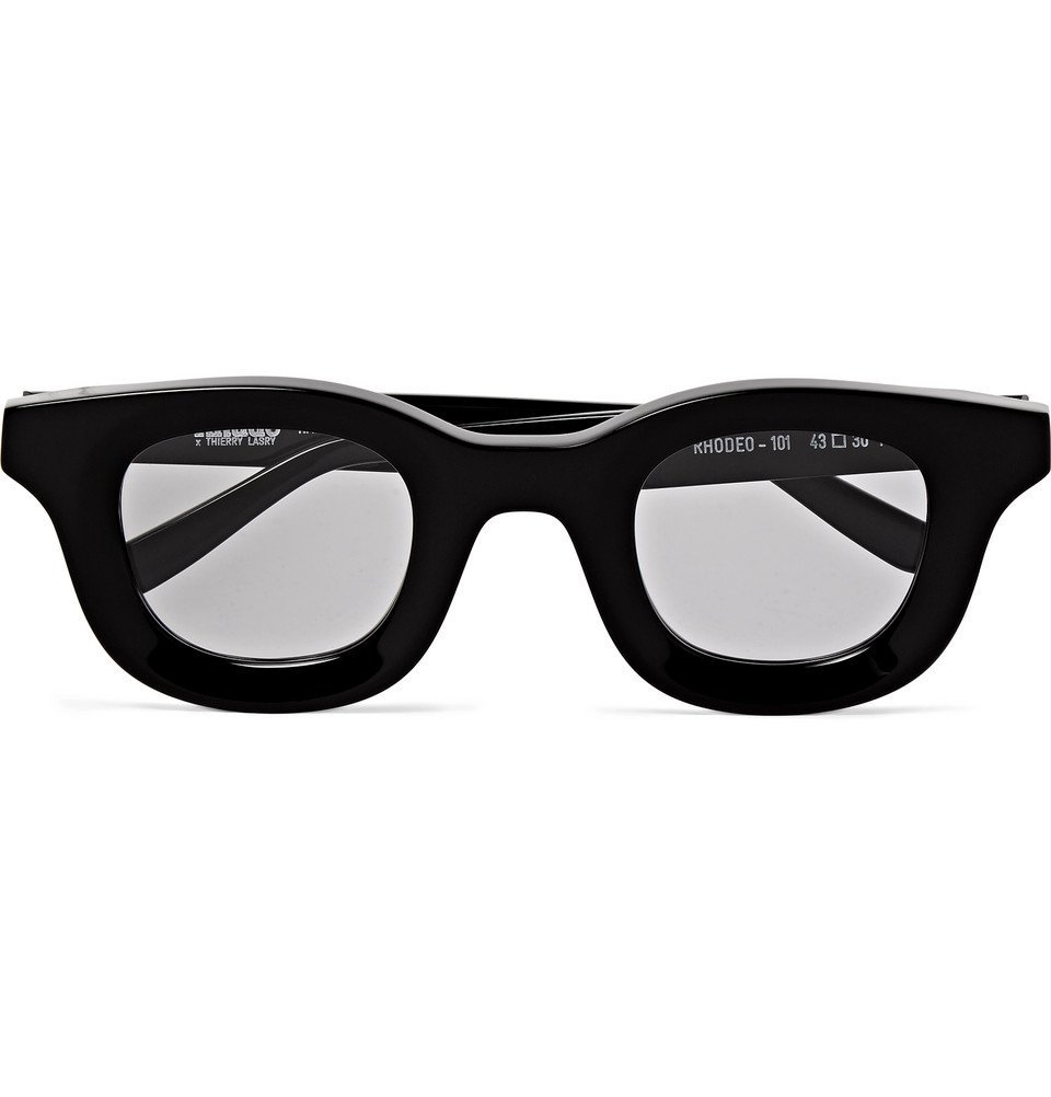 Photo: Rhude - Thierry Lasry Rhodeo Square-Frame Acetate Sunglasses - Black