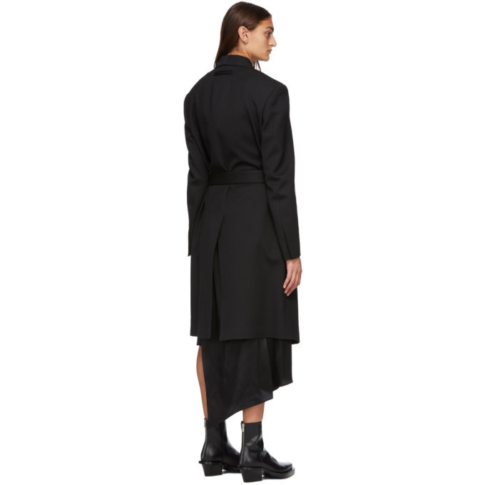 1017 ALYX 9SM Black Buckle Double High Coat