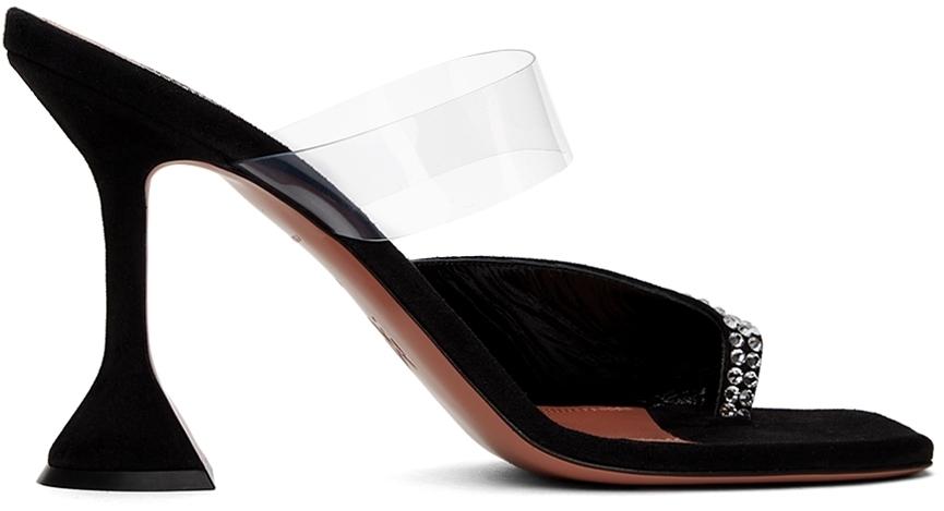 Photo: Amina Muaddi Black Paloma Heeled Sandals