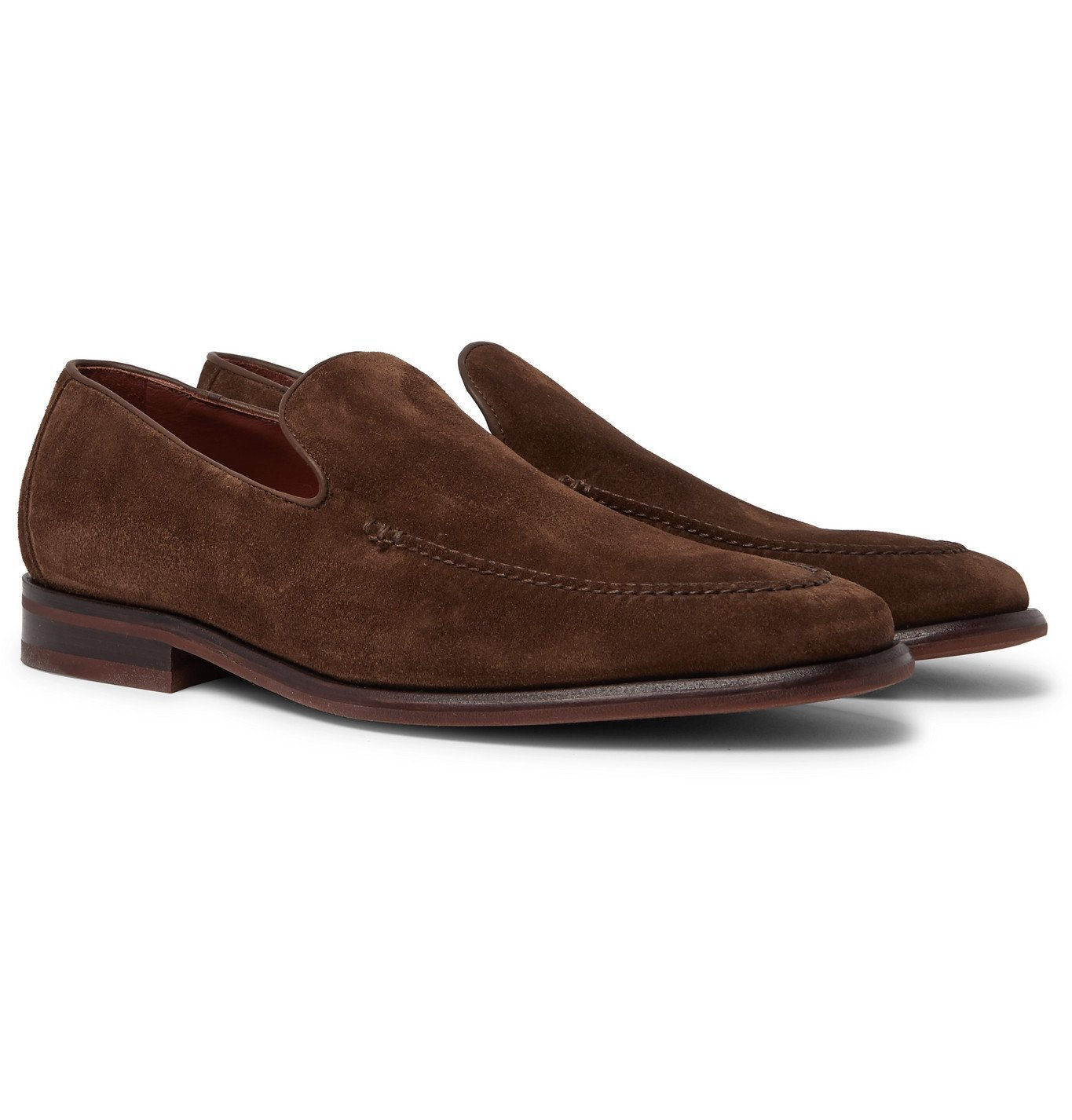 Photo: Loro Piana - City Suede Loafers - Brown