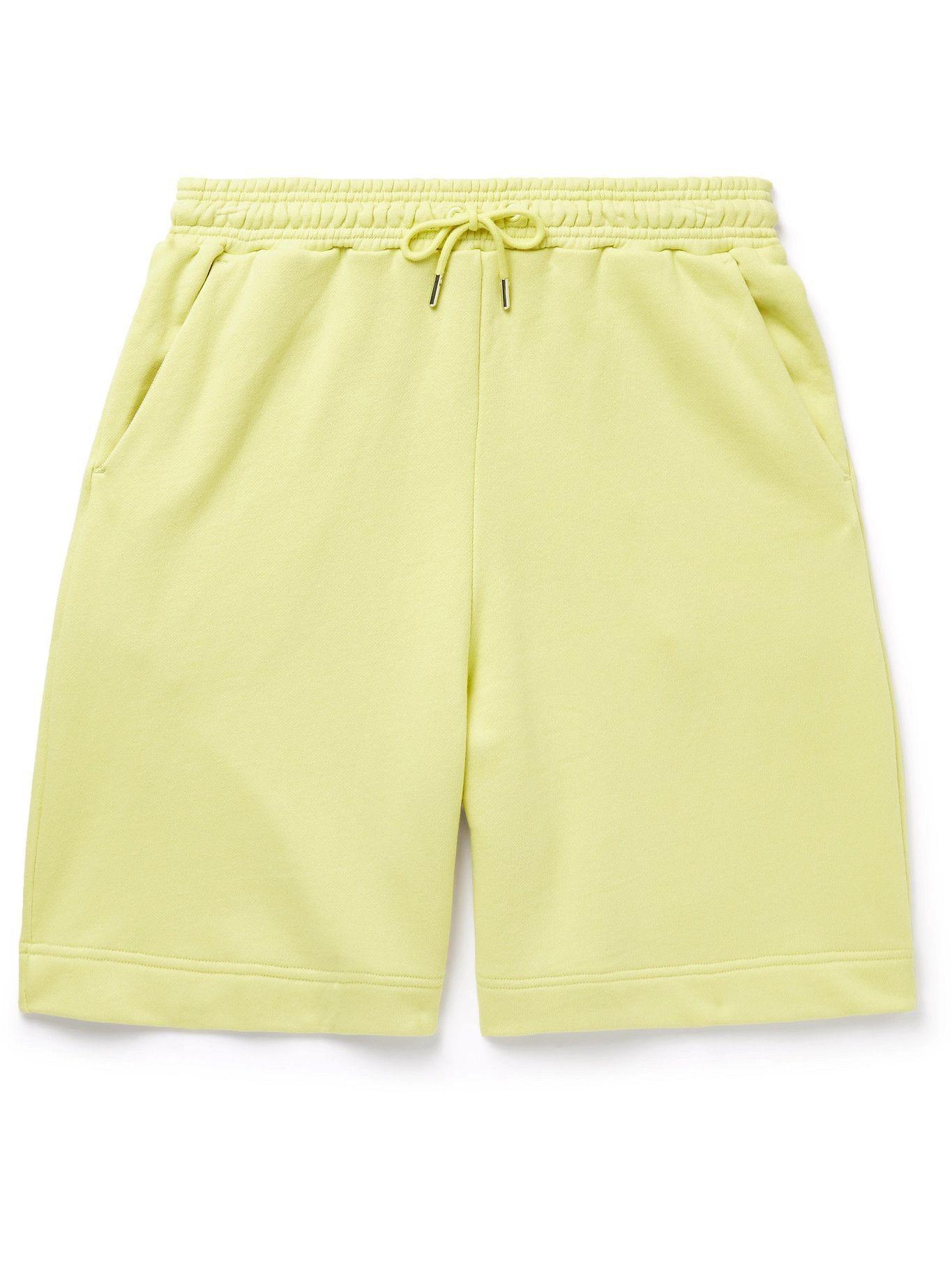 Photo: Ninety Percent - Wide-Leg Organic Cotton-Jersey Drawstring Shorts - Yellow