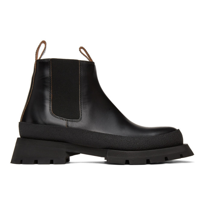 Photo: Jil Sander Black Chunky Chelsea Boots