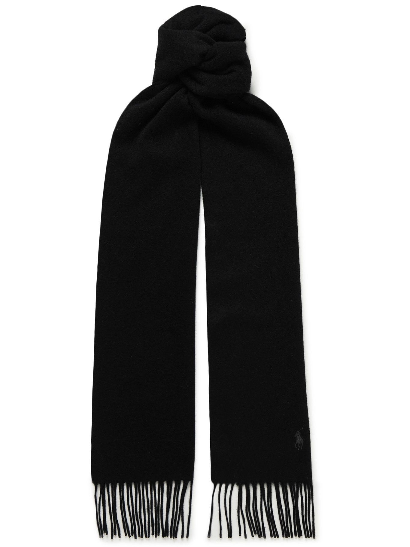 Photo: Polo Ralph Lauren - Logo-Embroidered Fringed Cashmere Scarf