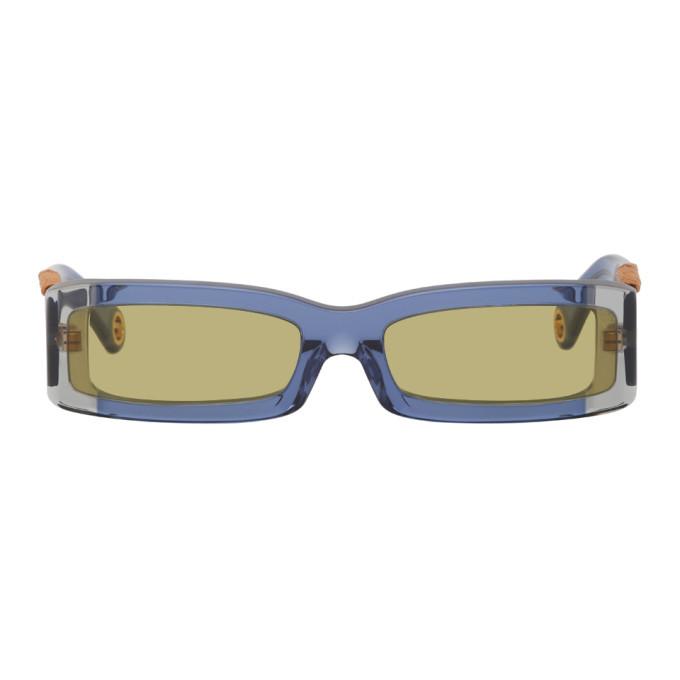 Photo: Jacquemus Navy Les Lunettes 97 Sunglasses