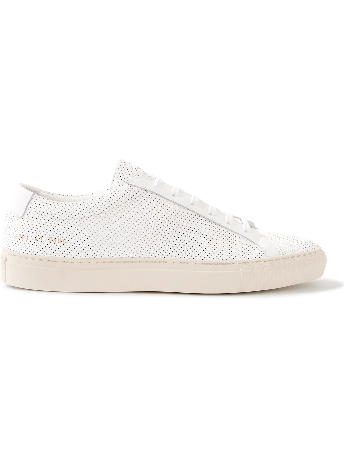COMMON PROJECTS - Achilles Perforated Leather Sneakers - White