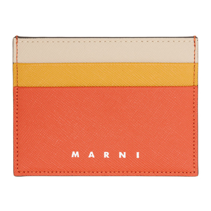 Photo: Marni Red and Orange Colorblock Card Holder