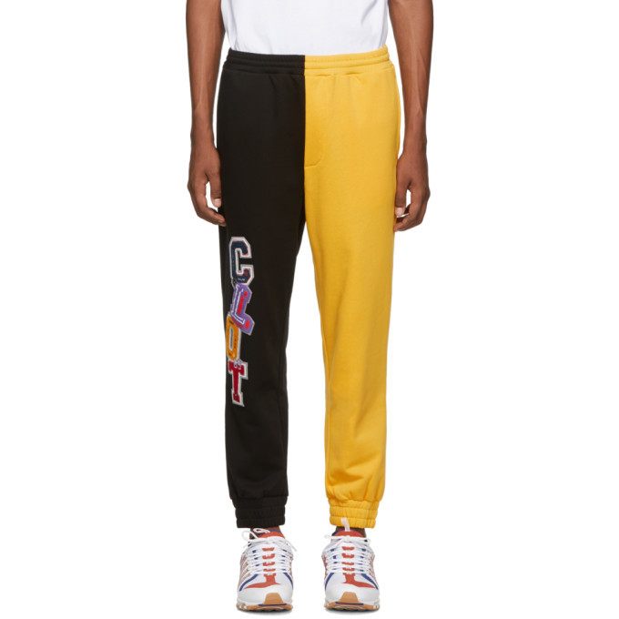 Photo: Clot Black and Yellow Colorblock Lounge Pants