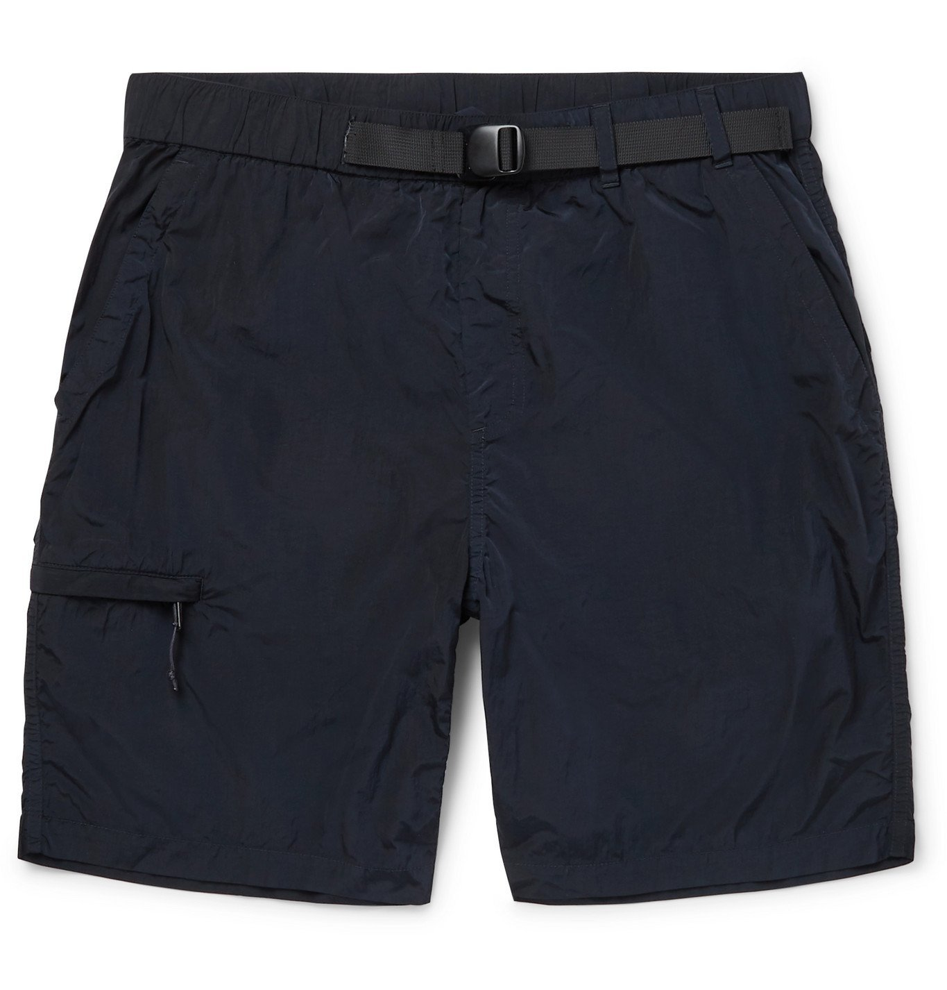 Photo: Norse Projects - Luther Belted Garment-Dyed Nylon Shorts - Blue