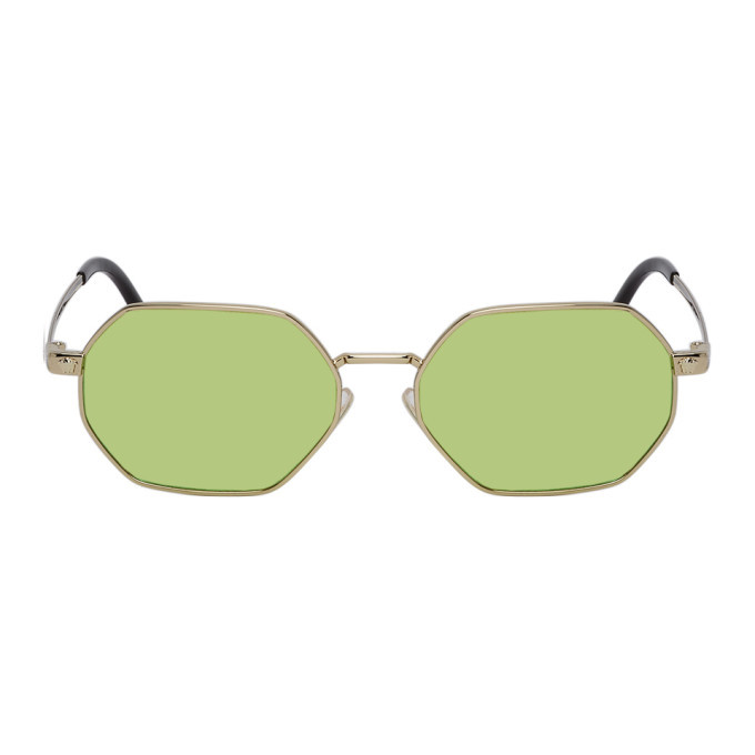 Photo: Versace Gold and Green Pop Chic Sunglasses