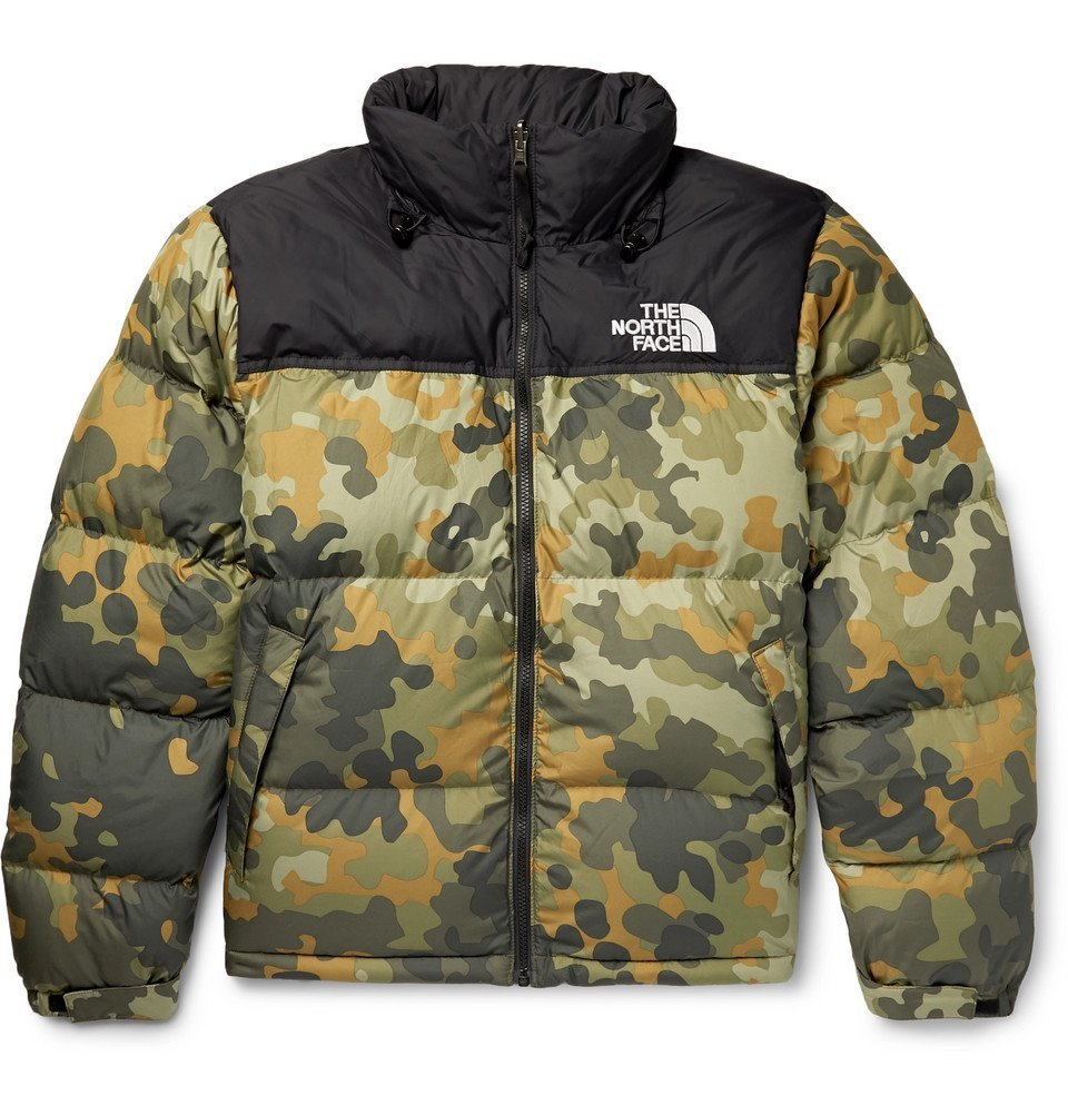 Photo: The North Face - 1996 Retro Nuptse Quilted Camouflage-Print Shell Down Jacket - Men - Green