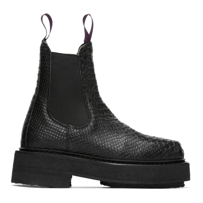 Photo: Eytys Black Croc Ortega Chelsea Boots
