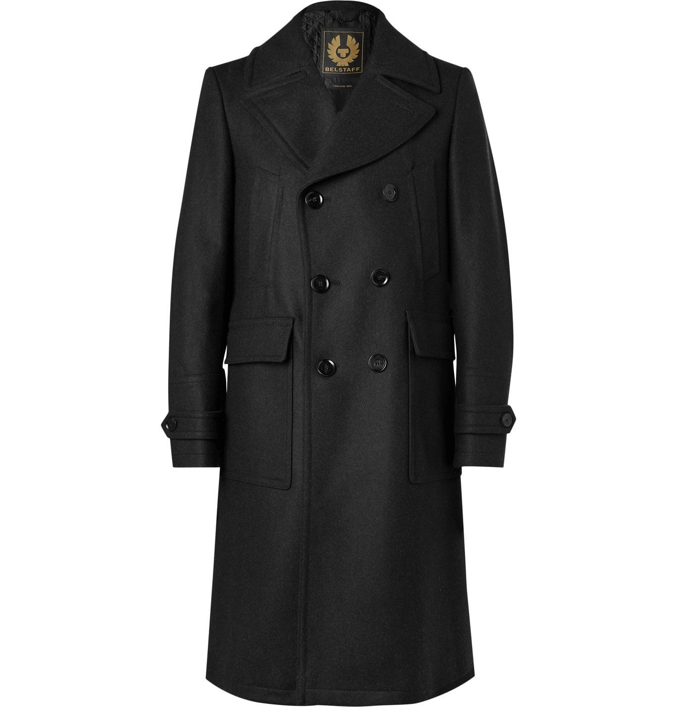 Belstaff - New Mildford Double-Breasted Padded Wool-Blend Overcoat - Gray