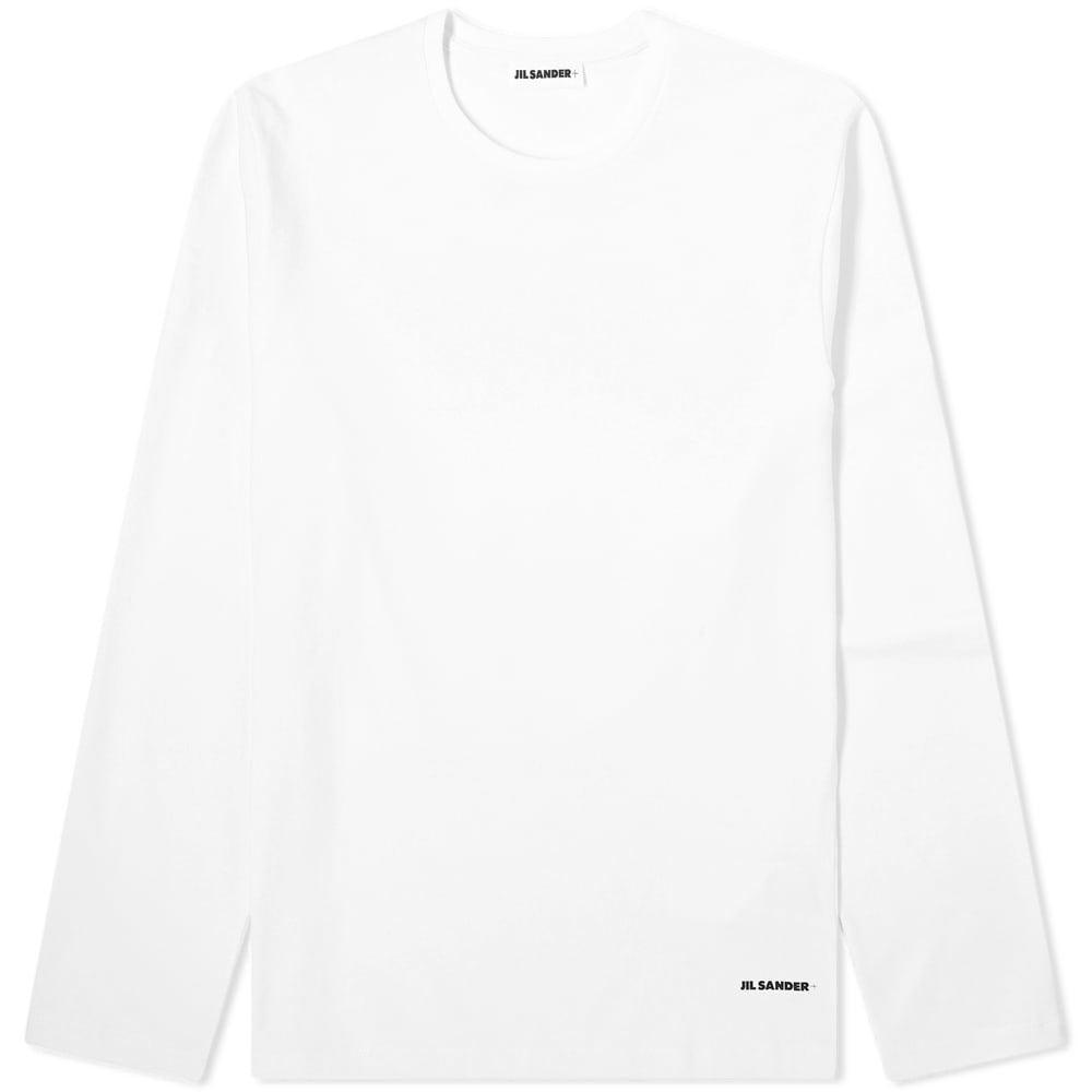 Photo: Jil Sander Long Sleeve Plus Printed Back Logo Tee