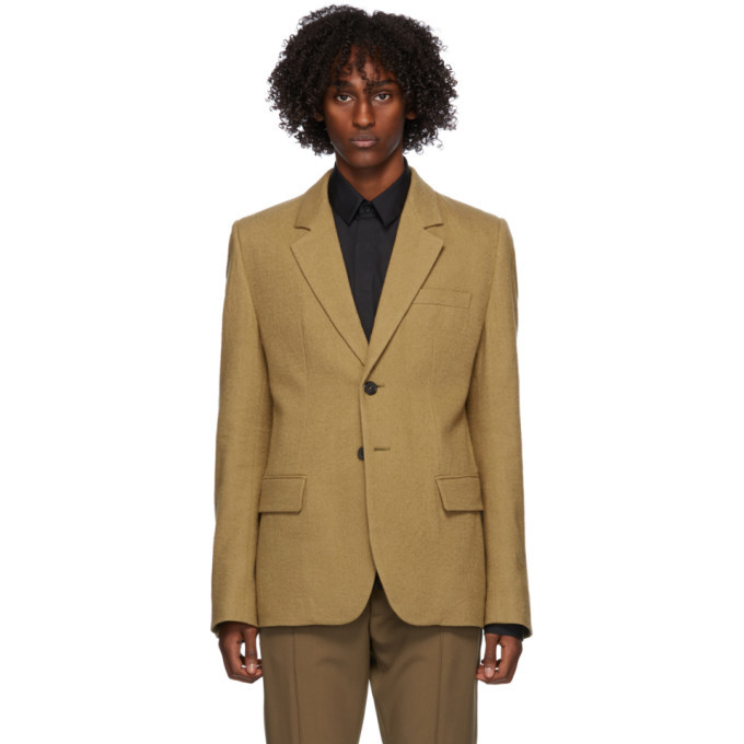 Photo: Ann Demeulemeester Tan Wool Blazer