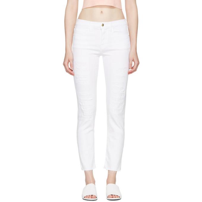 FRAME White Le Boy Jeans Frame Denim