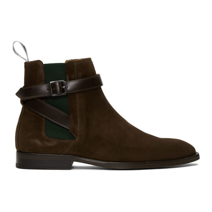 Photo: PS by Paul Smith Brown Suede Harrow Chelsea Boots