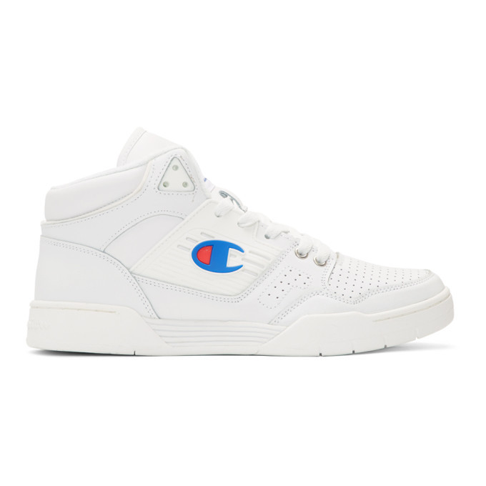 19e733cca2d73f Champion Reverse Weave White 3 on 3 SP High-Top Sneakers Champion ...